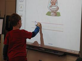 Whiteboard and Student