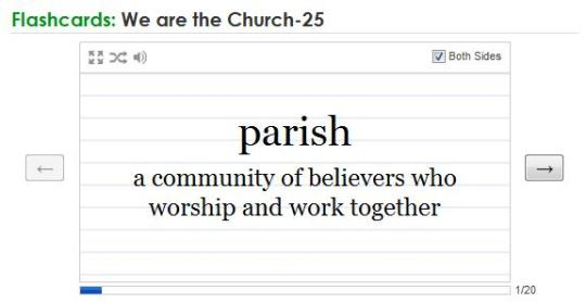 Quizlet for Church