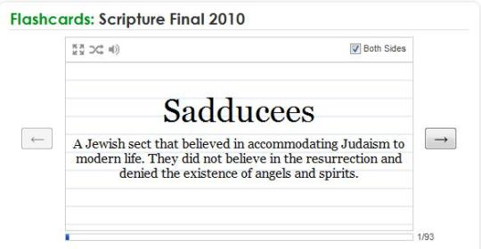 Quizlet for Scripture Final