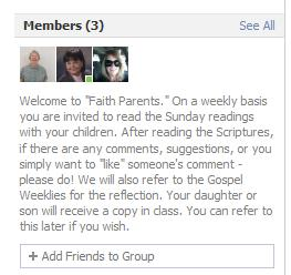 Description of Faith Parents group.